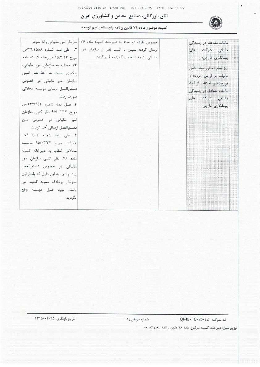 جلسه کمیته ماده 76